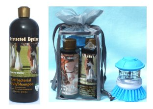 Protected Equine Antibacterial Scrub/Shampoo Maximizing Colors  and White Coats Shampoo