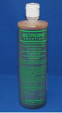 Betadine Solution iodine wound cleaning