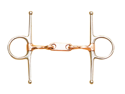 Dr. Bristol Full Cheek bit 15mm mouth with twisted copper mouth
