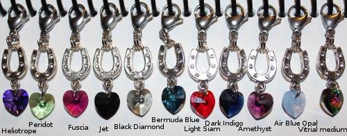 swarovski crystal bridle charm