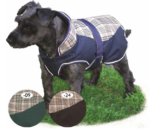 tiger delux plaid dog coat 200g