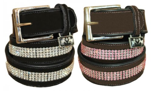 Bling Leather Belt  Equine Couture Belts
