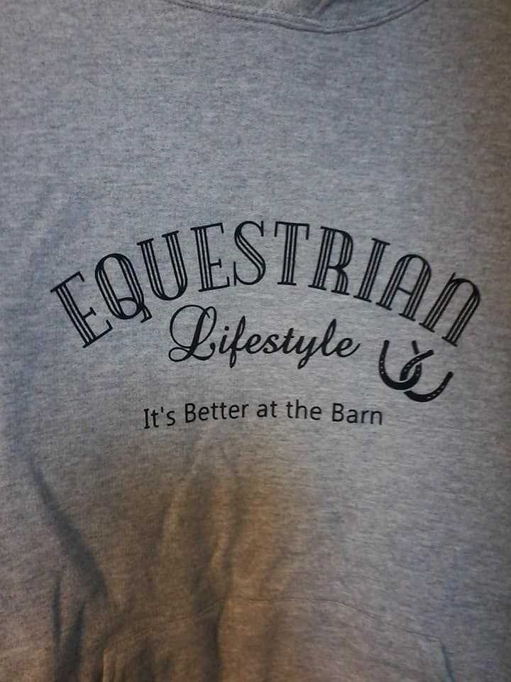 Equestrian Lifestyle Sport Grey Black Phrase Medium