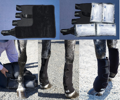 evendura ice horse wraps:Low Knee to Pastern/Fetlock Ice Compression Wraps
