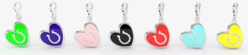 Luv inspired horseshoe heart charm