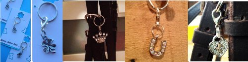 my barn child bridle charms; Crown, Aurora Horseshoe and Locket Heart