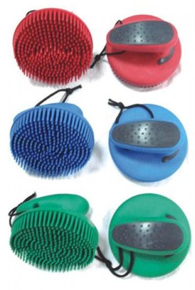 soft touch rubber curry comb