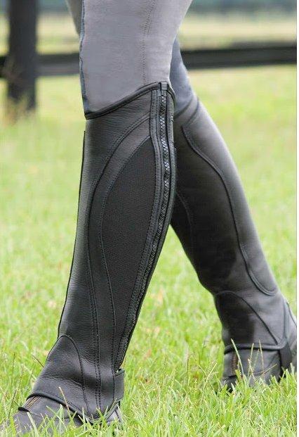 Tuscany Side Zip Sport Leather Half Chaps