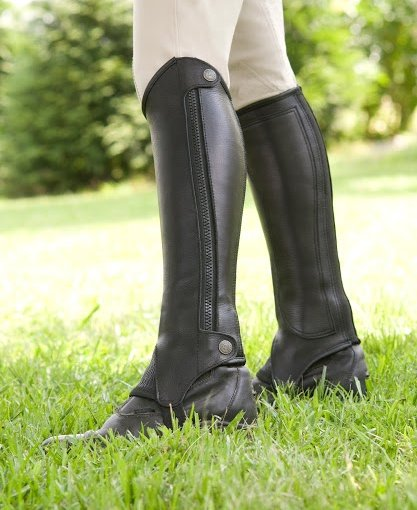 Tuscany Side Zip Traditional Leather Half Chaps